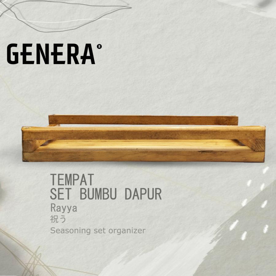 GENERA - Rayya Tempat Set Bumbu Kayu
