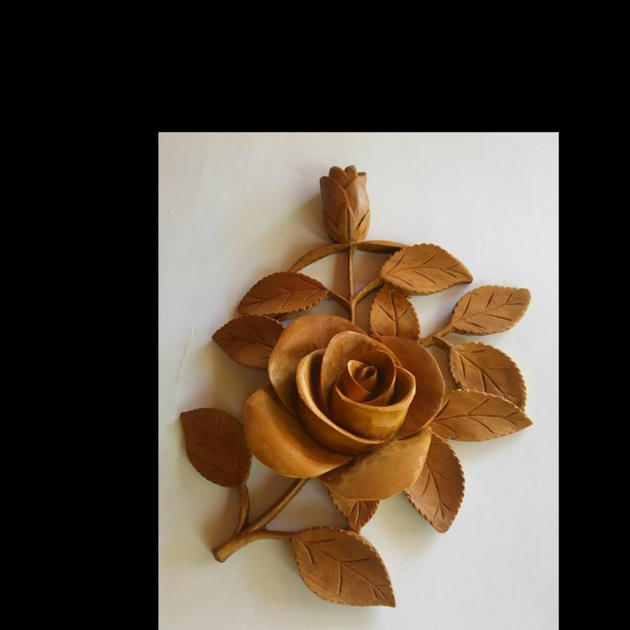 Hiasan Dinding Frameless Motif Bunga Mawar Ku Ka