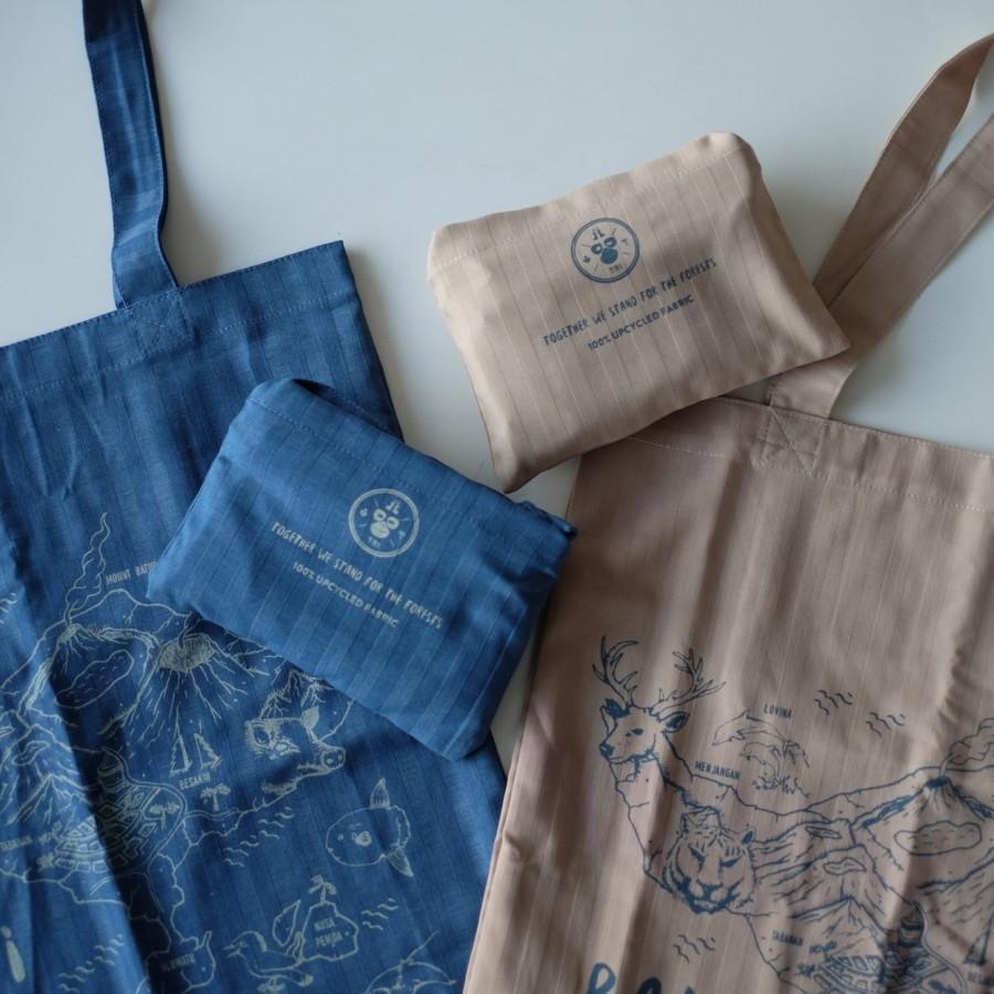 Tas Tote Bag Bali Daur Ulang untuk Hutan