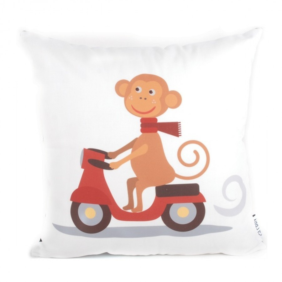 Scooter Monkey Cushion 40 x 40
