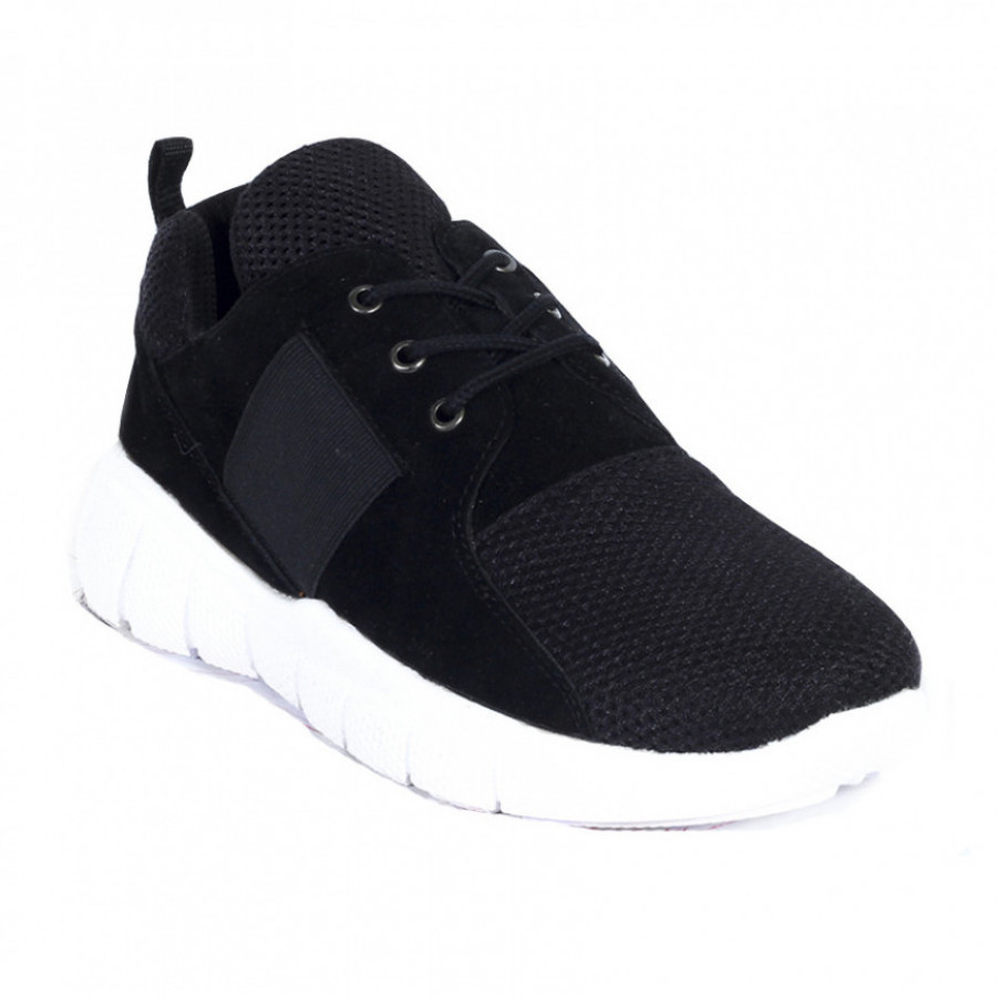 Lvnatica Sepatu Pria Kasual Flavio Black Sneakers Shoes