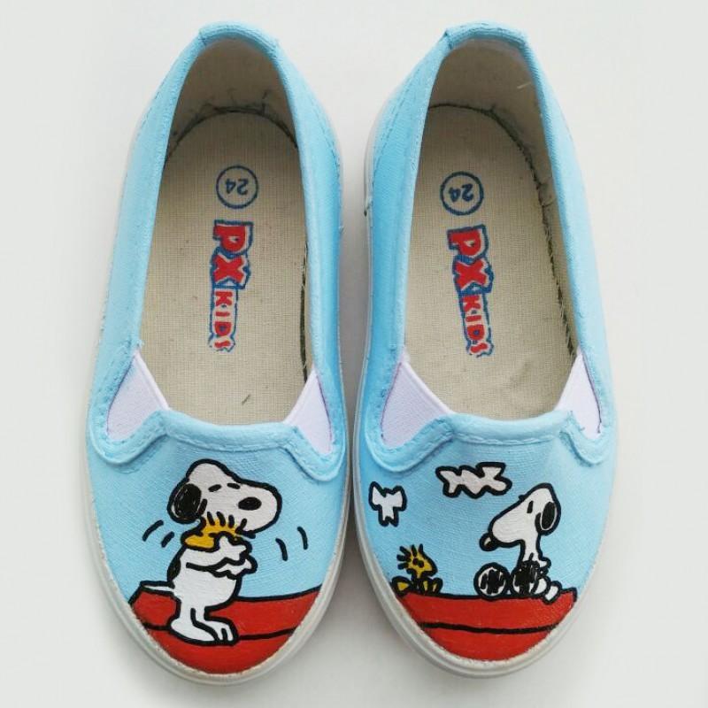 Sepatu Lukis Dewasa Snoopy & Woodstock
