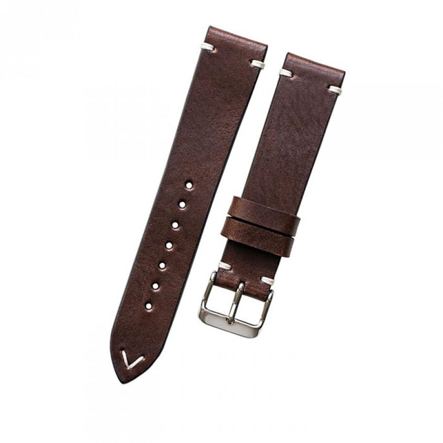 Tali jam tangan kulit asli size 22 mm warna coklat tua -GARANSI 1 TAHUN