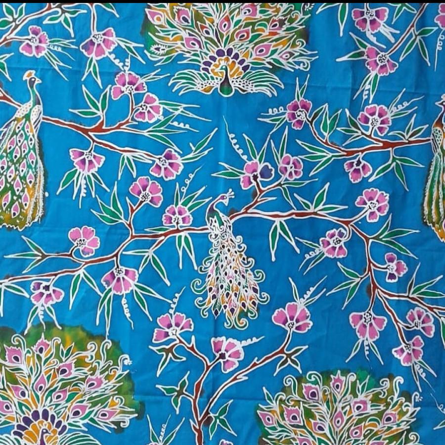 Batik Merak Biru Muda