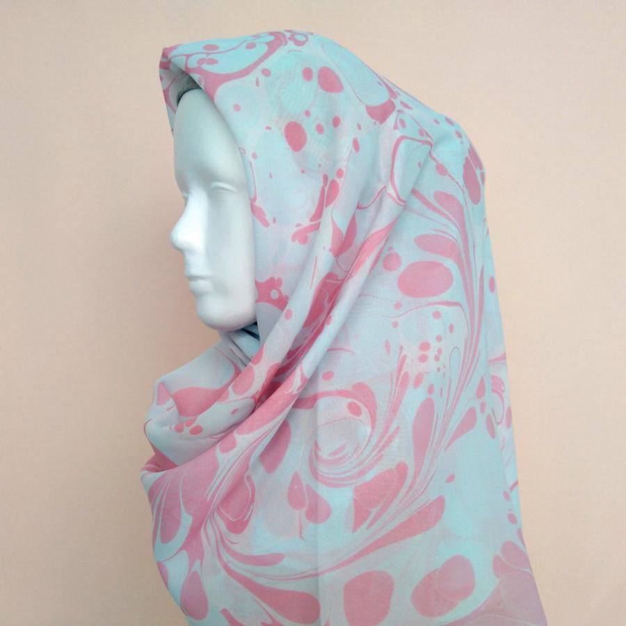 Layana suminagashi scarf