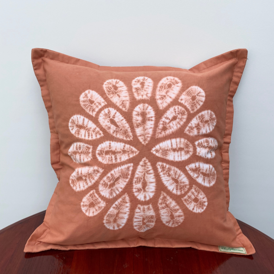 Natural Dye Jumputan Cushion Cover - Krisan