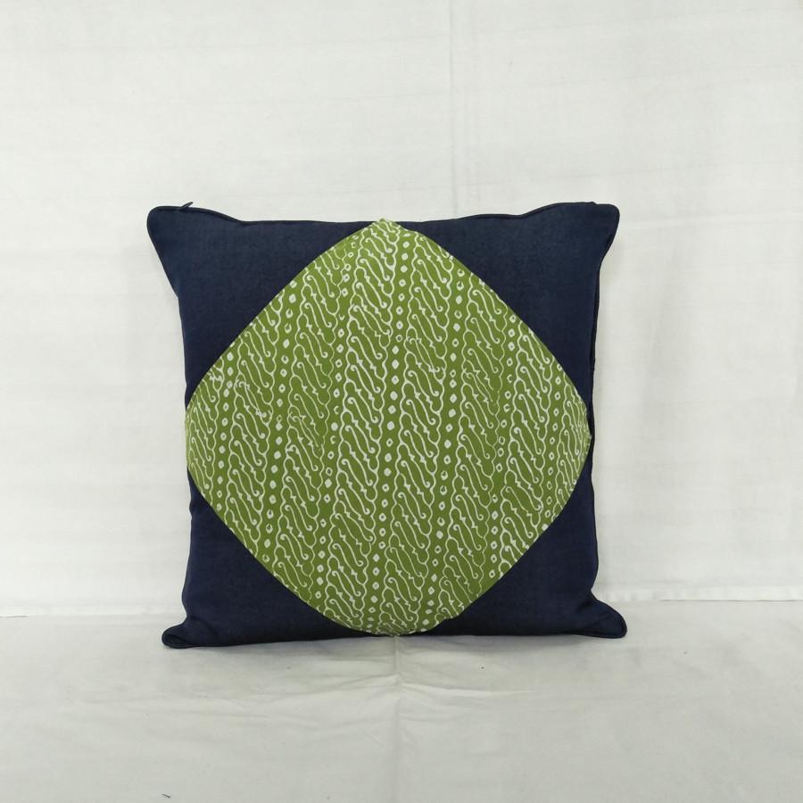 CC3 - Batik Mix Denim Cushion Cover
