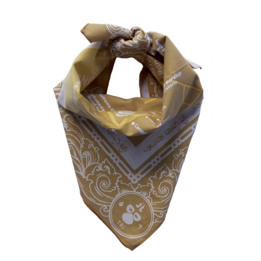 Sapu Tangan/Slayer/Bandana/Handkerchief Peta Batu Bolong Bali Daur Ulang untuk Hutan