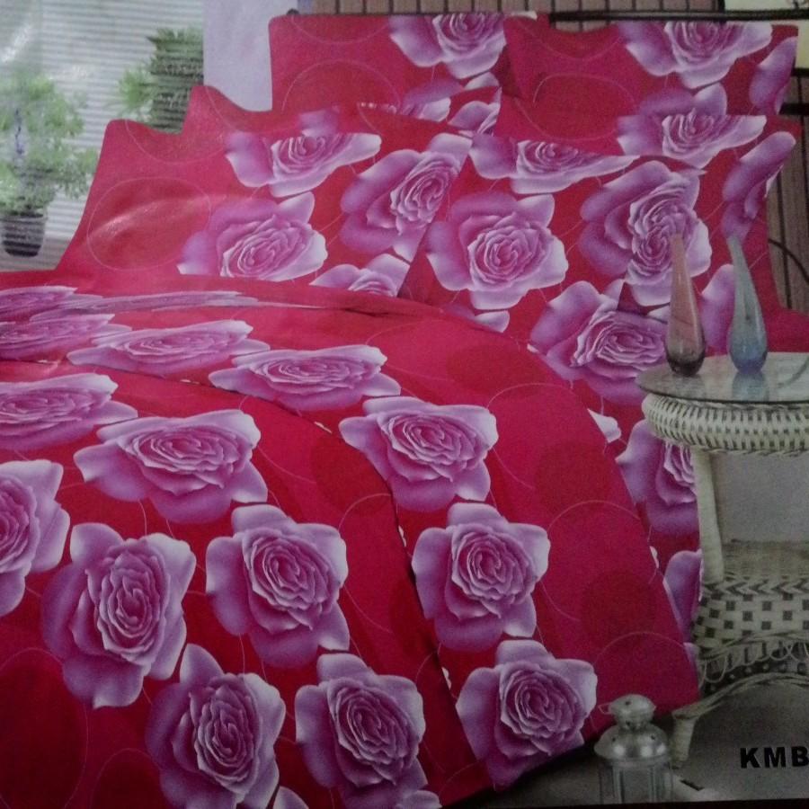 Bedcover set Kusuka Roses a Red AA - Merah uk.160 cm