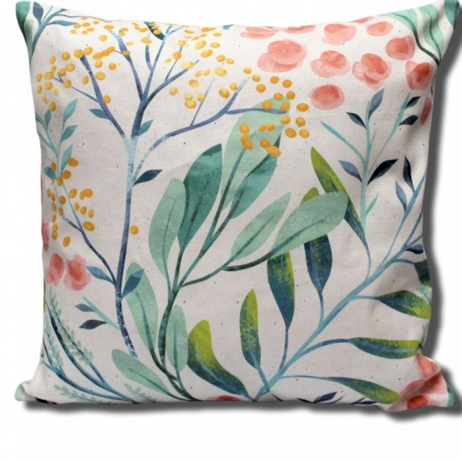 Cotton Canvas Cushion Cover Bunga Lantana