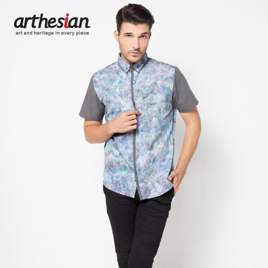 [Arthesian] Kemeja Batik Pria - Criss Cross Batik Cap