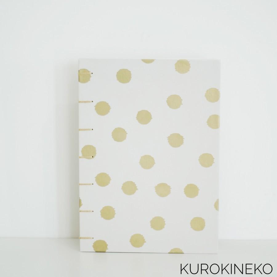 Handmade Notebook A5 - BEIGE (Coptic Stitch Binding)