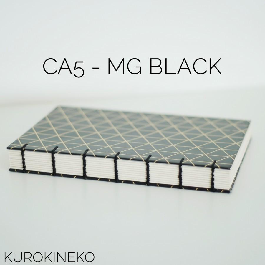 Handmade Notebook A5 - BLACK (Coptic Stitch Binding)
