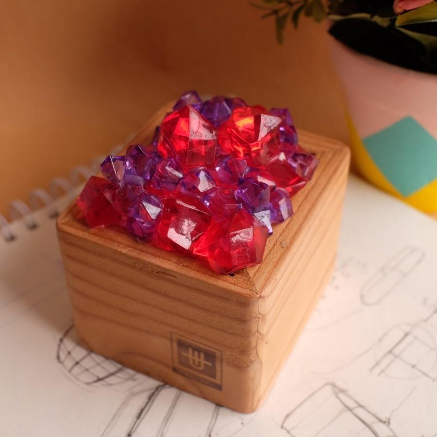 Lampu Hias Kristal (Merah)
