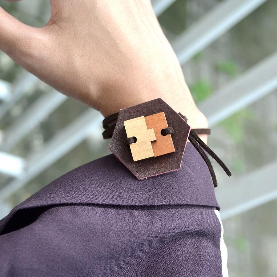 Recycle Leather Bracelet V