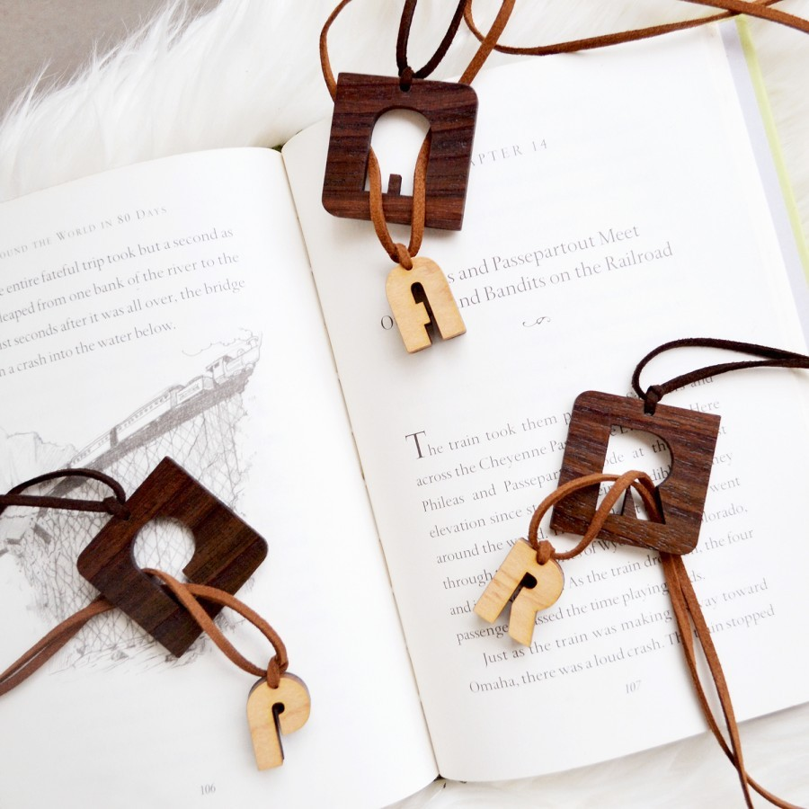 Alphabet Wooden Necklace