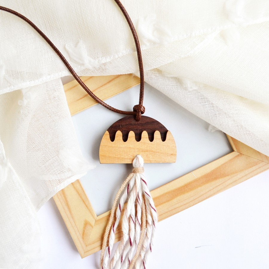 Charm Tassel Necklace