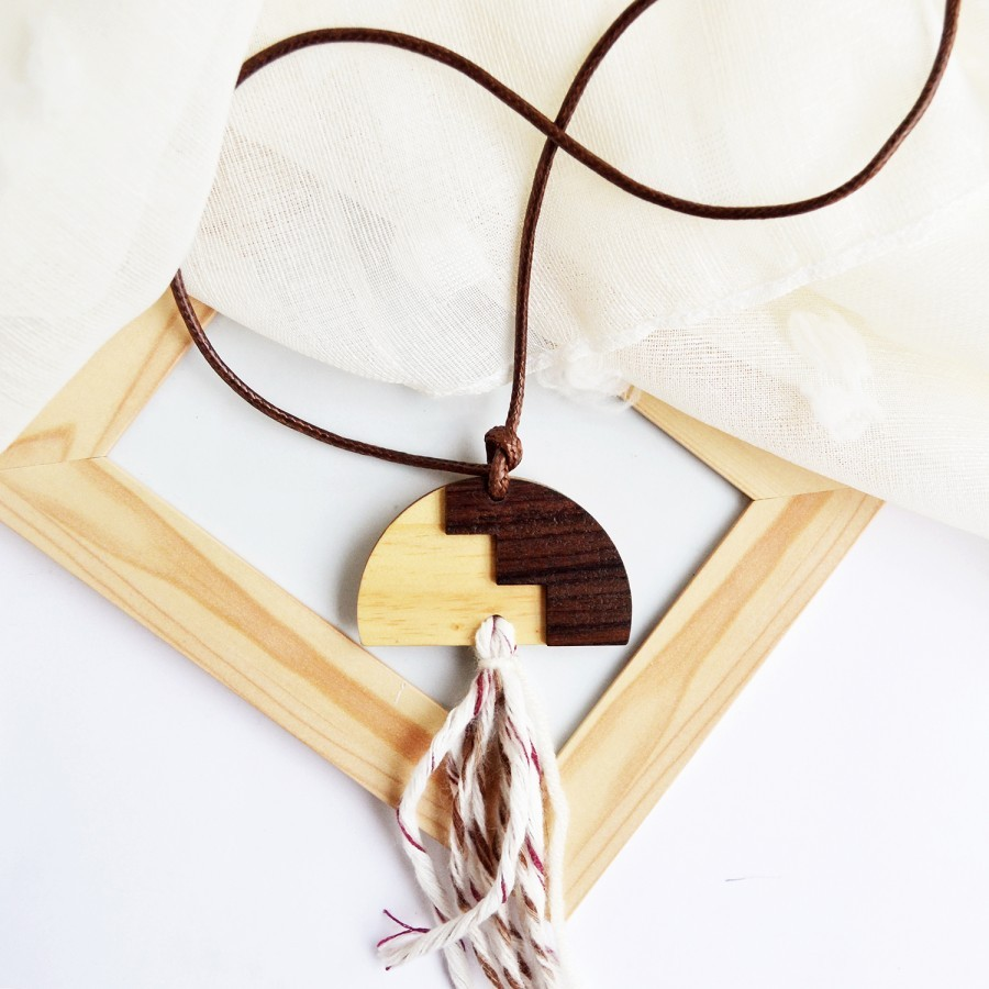 Moon Tassel Necklace II