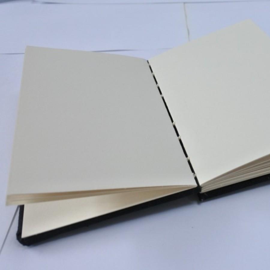 Handmade Journal Sketchbook recycle paper motif daun