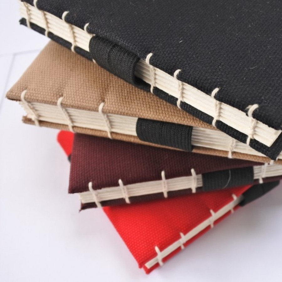 Handmade Journal Sketchbook canvas Cover