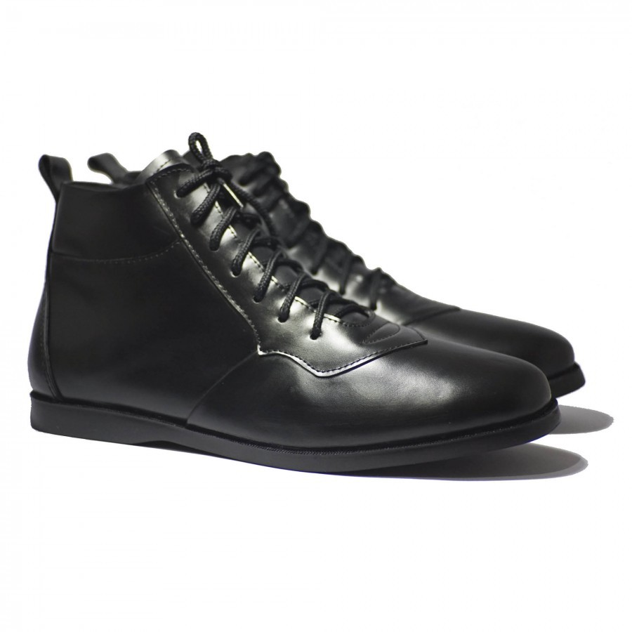 Sepatu Kulit Premium Pria - Mekafa Drillmach Black  Using Genuine Leather   ... fa45cab467