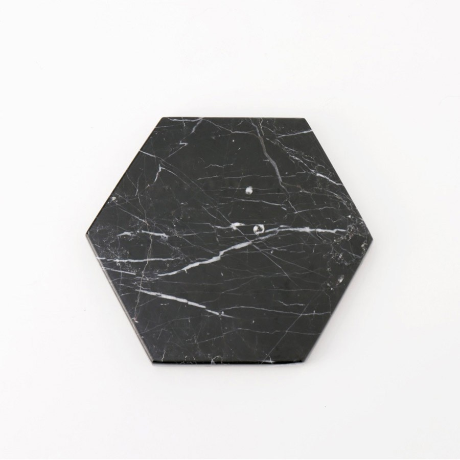 Hexagon Black Zircon Marble D12