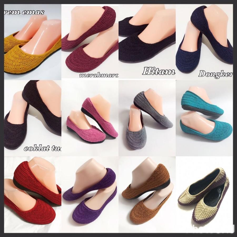 Linalee Shoes Sepatu Wanita Clarisa Cream Daftar Harga Terbaru Source · flat shoes rajut