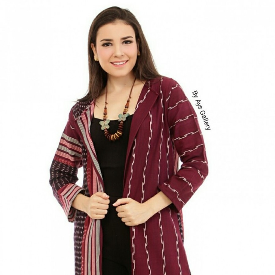 outer tenun chick red