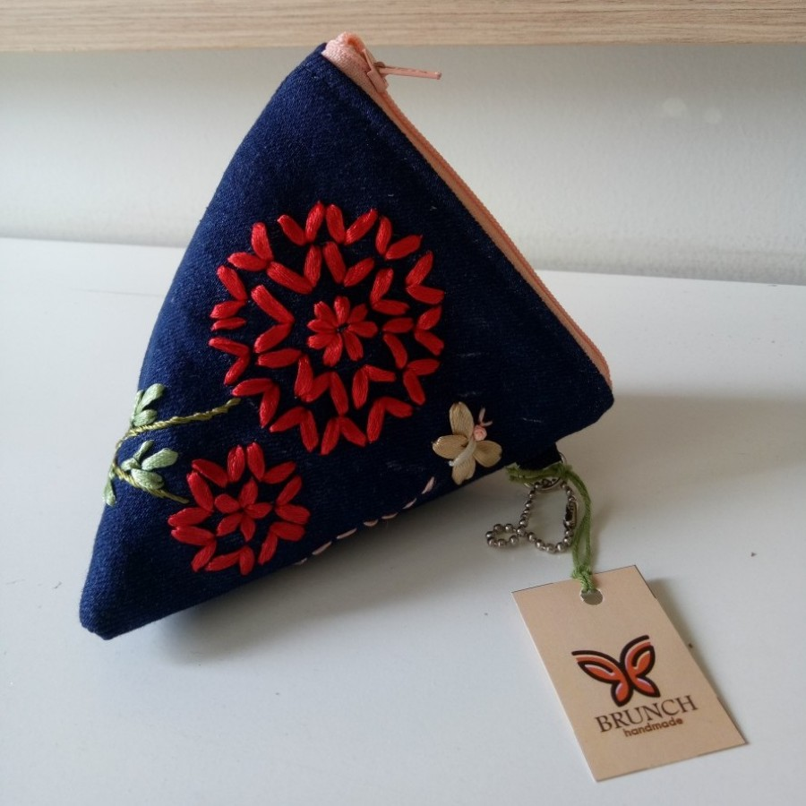dompet koin  dandelion merah