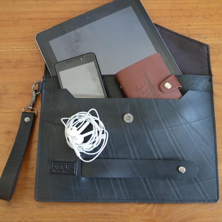 Ipad Case / Clutch Innertube (Ban Dalam Truck) Label Hitam