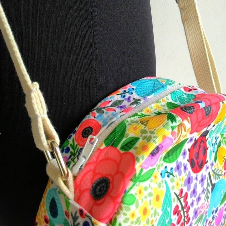 Nammina Home Round Bag Desain Flower 02