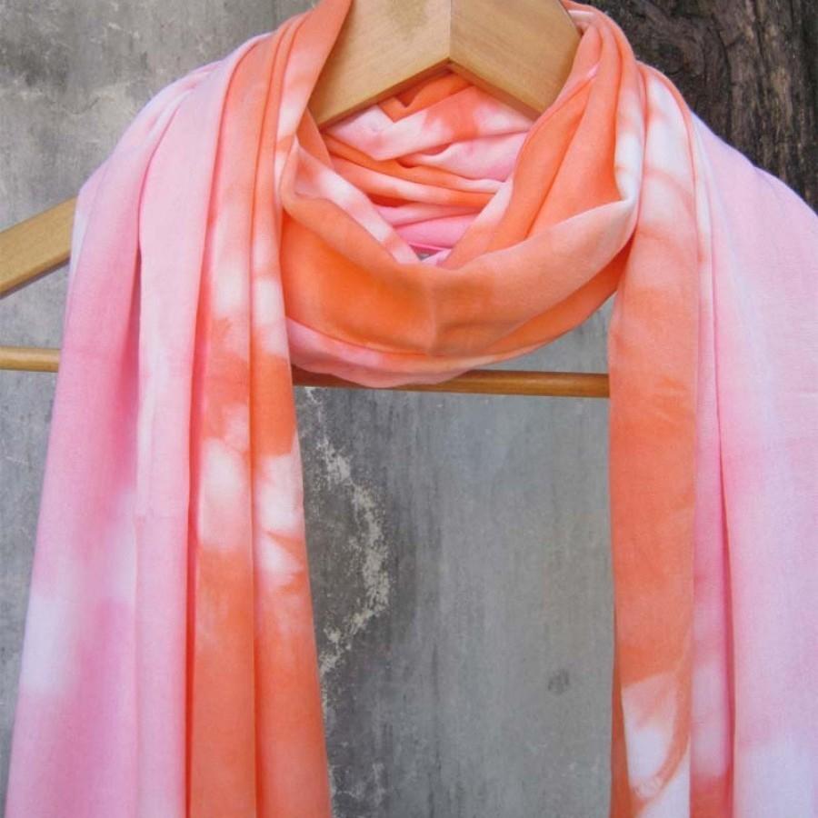 Pashmina Shibori Pink - Orange