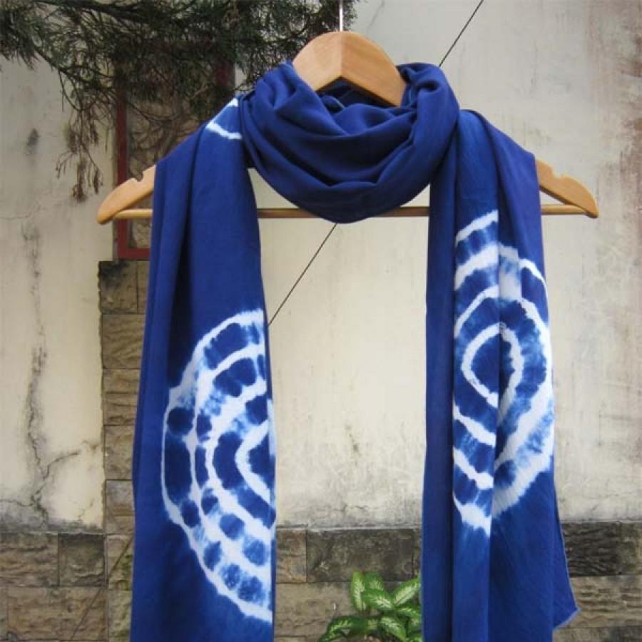 Pashmina Shibori (tiedye) Biru Terang