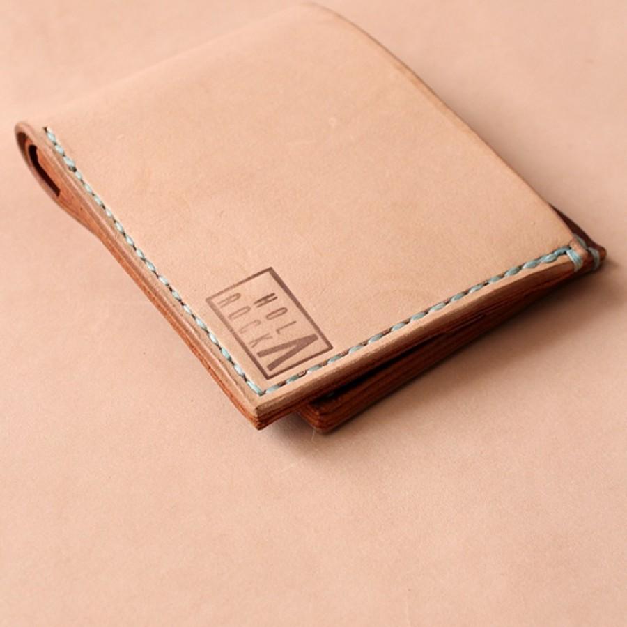 """Holarocka """"Rocka 03"""" Vegtan x Pull Up Bifold Leather Wallet"""