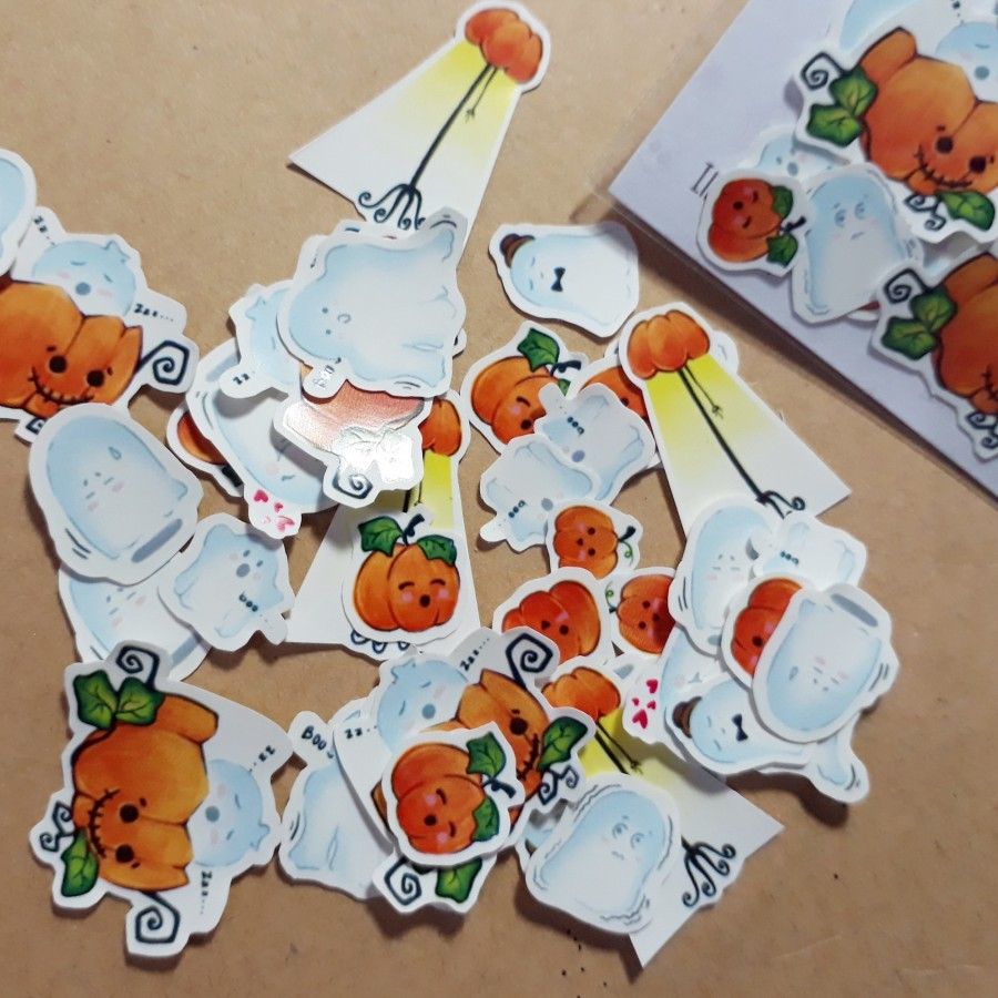 Ghost Party Mini Sticker Pack 48 pcs
