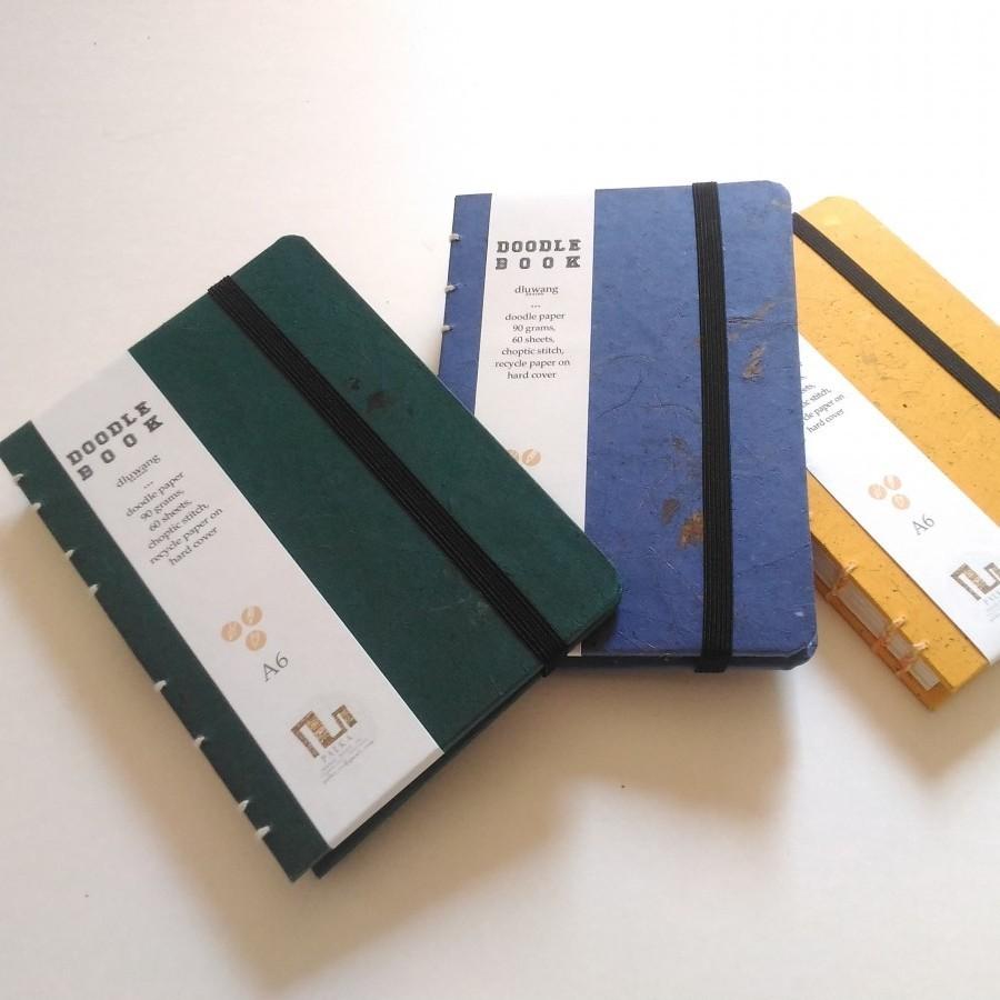 Handmade Journal Sketchbook recycle paper warna