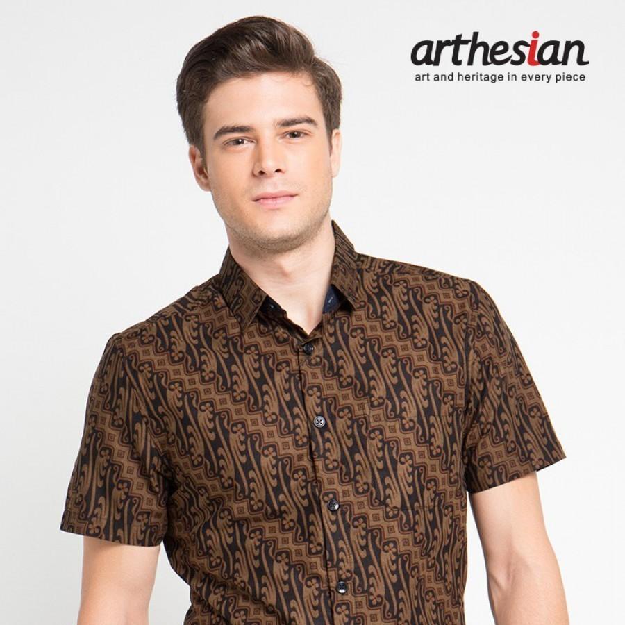 [Arthesian] Kemeja Batik Pria - Parang Pamor Batik Printing