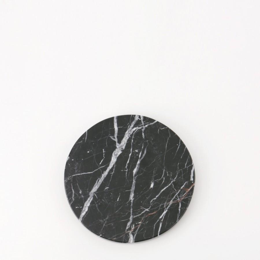 Round Black Zircon Marble D12