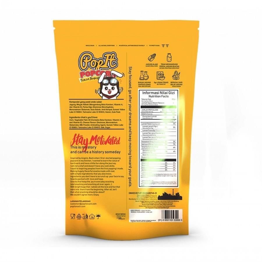 Popit Snack Cheese Popcorn Aroma Dan Rasa Keju Keju