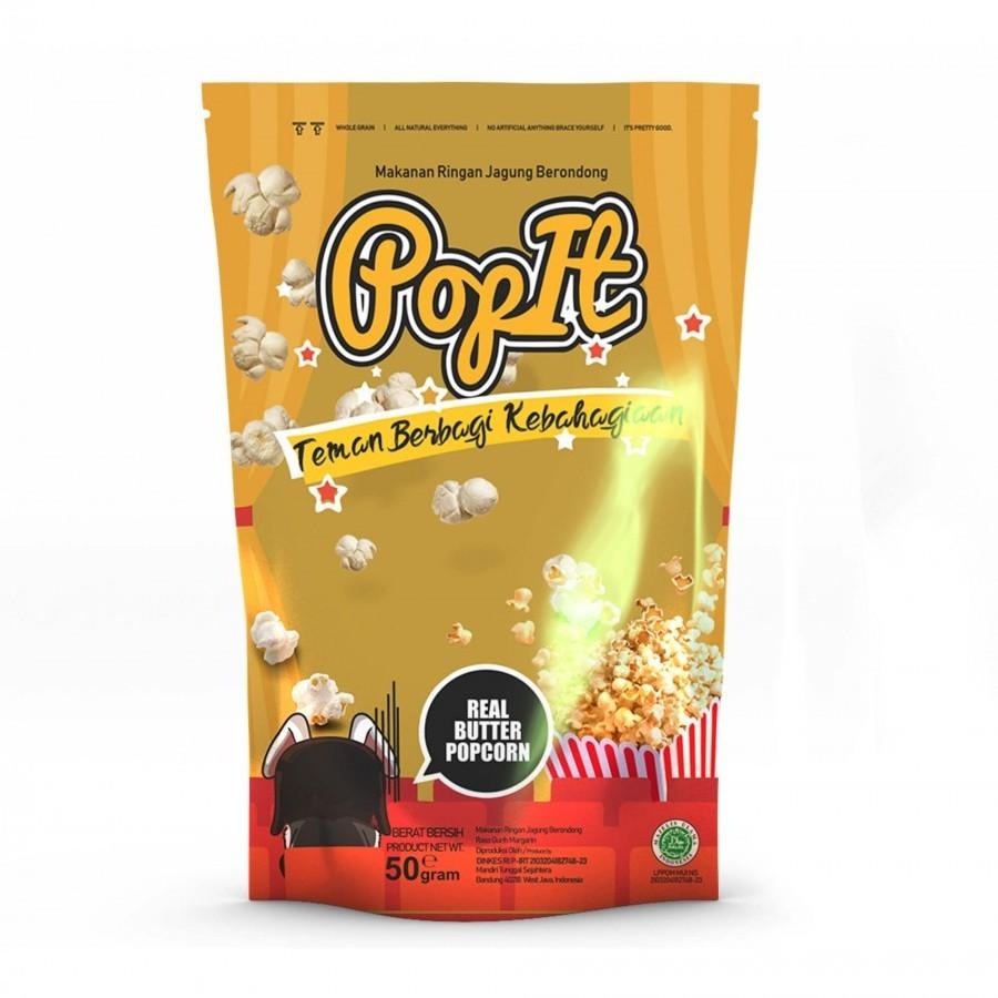 PopIt Snack Real Butter Popcorn Rasa Gurih Butter