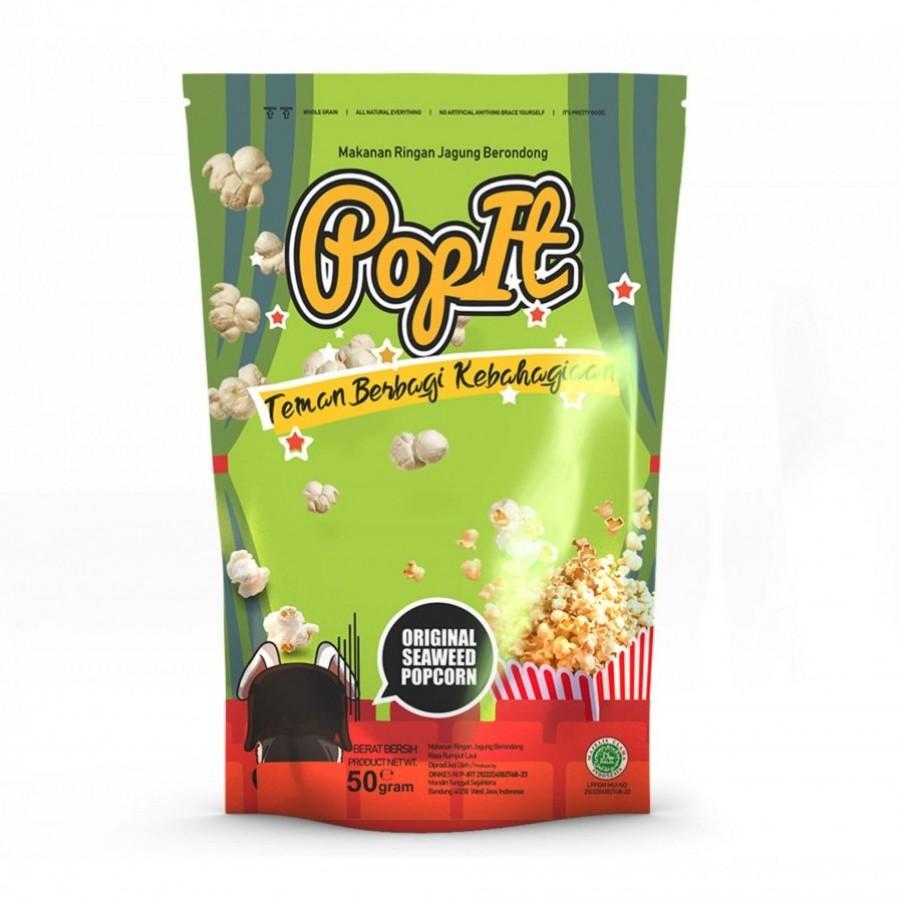 PopIt Snack Seaweed Popcorn Rasa Rumput Laut