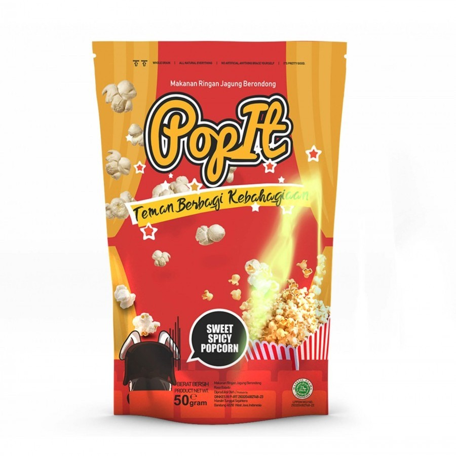 PopIt Snack Sweet Caramel Popcorn Rasa Karamel
