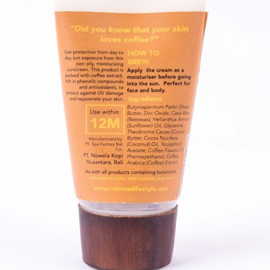 Rebrew Love You A Latte Sunscreen SPF 25 Tabir Surya Kopi - REBREW