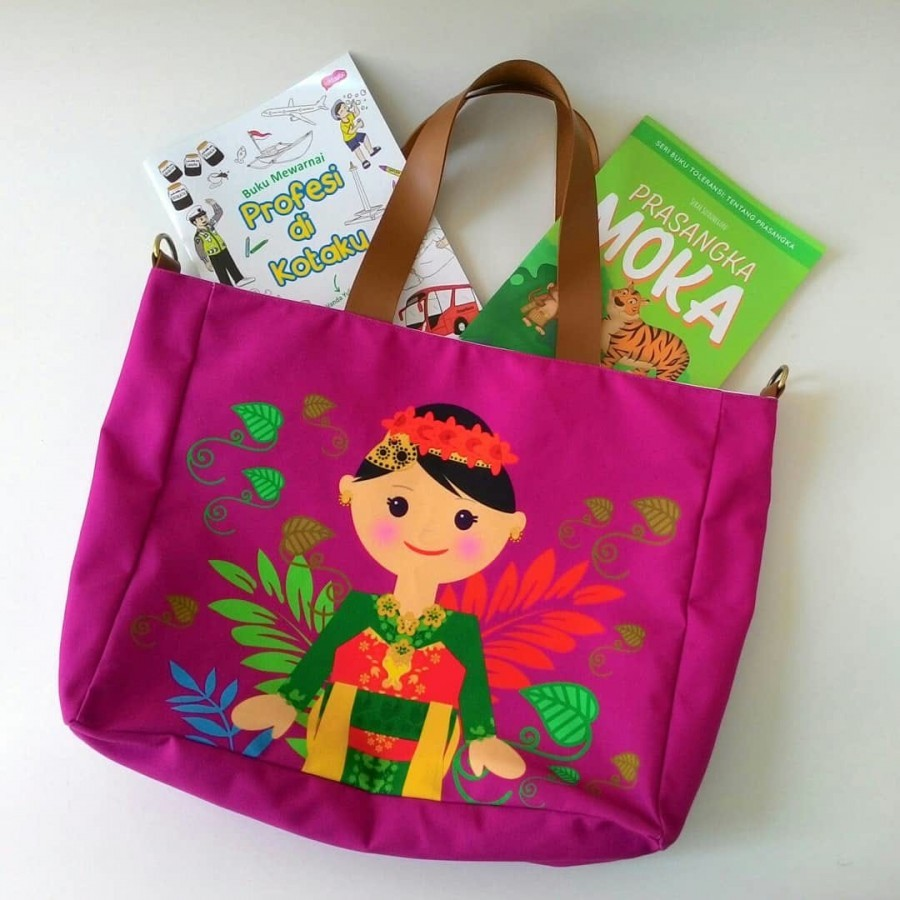 Nammina Home Laptop Bag Jaipongan - Light Purple