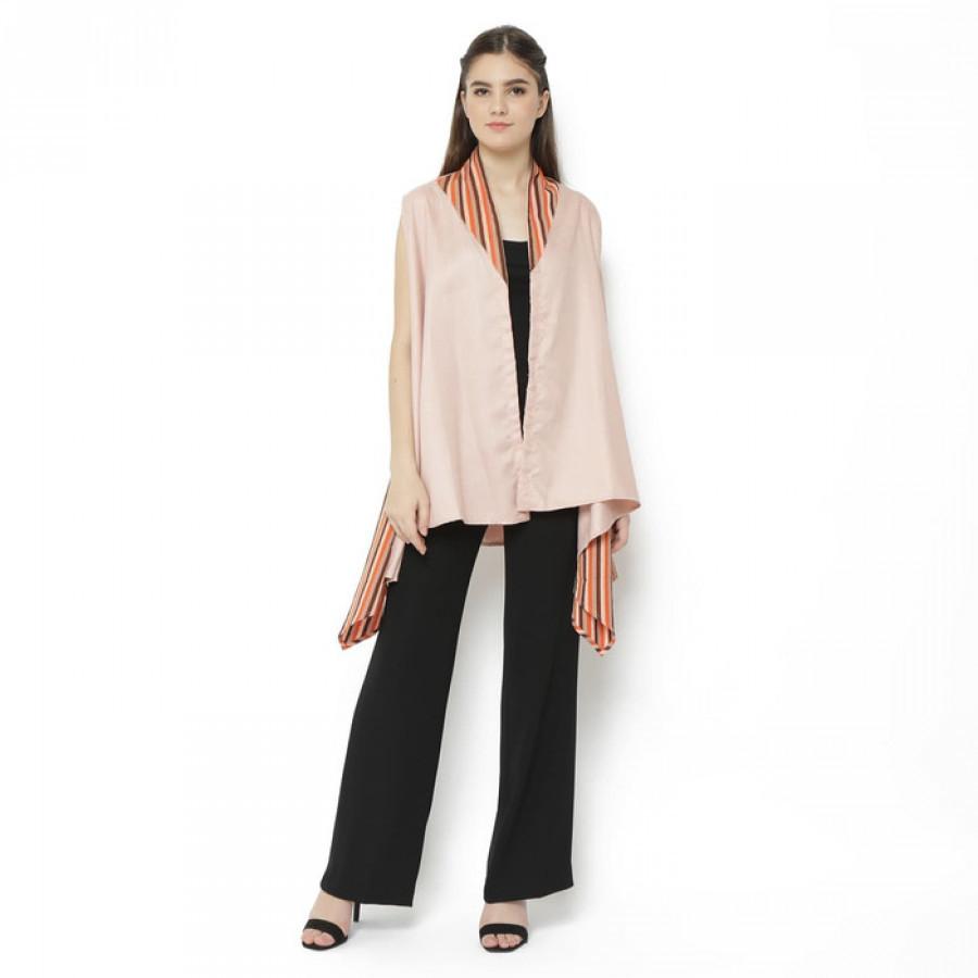 GESYAL Loose Outer Cardigan Batik Vest Wanita Asimetris