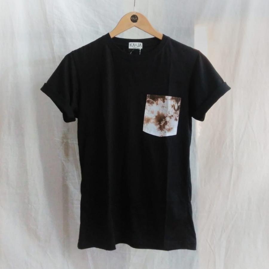 Tshirt Shibori Kantong Hitam - Pocket Tshirt 1