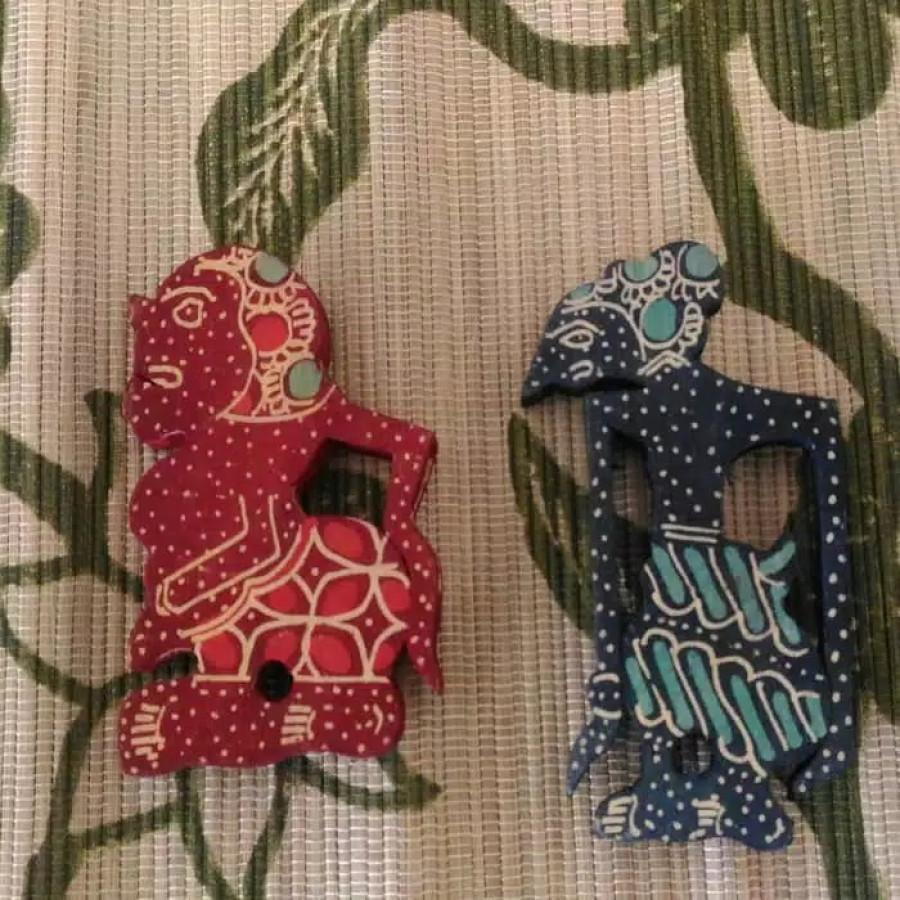 Magnet Kulkas Wayang tradisional khas Jogja.