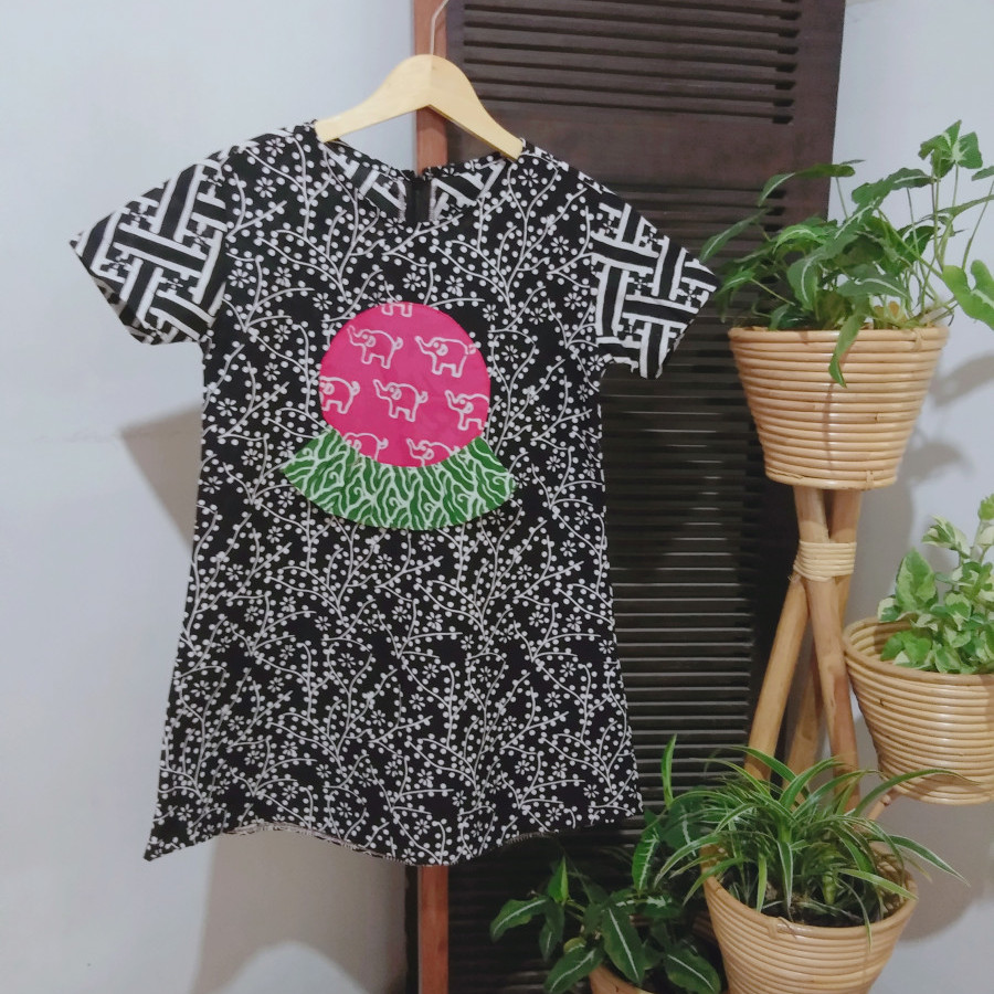 Dress Anak Batik Cap GJH 01