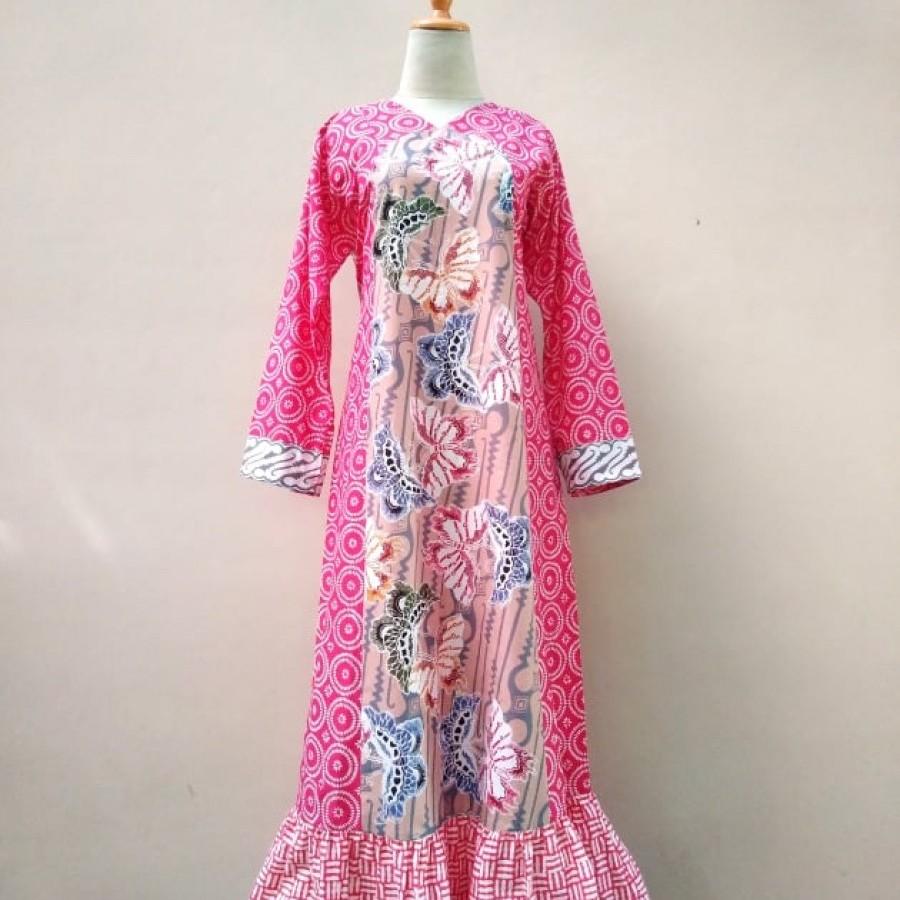 Gamis Batik Bunga Bakung 501
