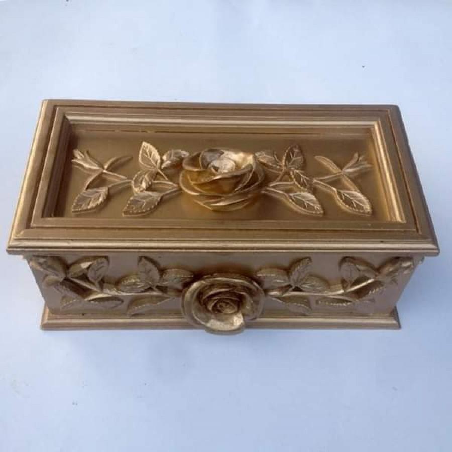 Kotak perhiasan mewah motif bunga mawar